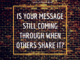 is your message still coming through, canva, loren weisman, bricks