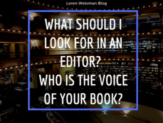 what should I look for in an editor, loren weisman