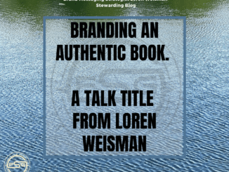 image of water with text over it reading brand an authentic book