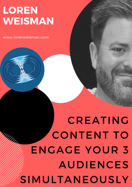 creating content to engage your three audiences, talk title description