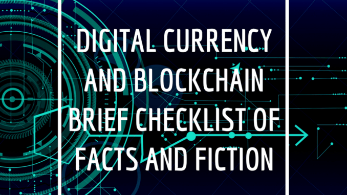 digital currency and blockchain checklist
