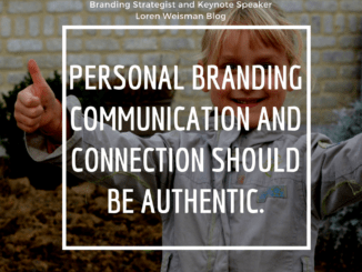personal branding communication, girl, loren weisman, branding thumbs up
