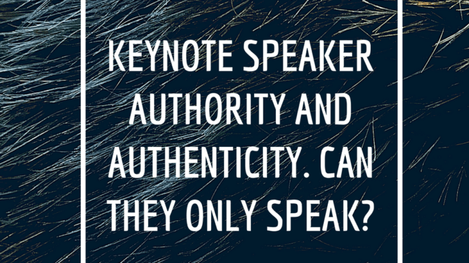 keynote speaker authority, hair, can they only speak, loren weisman