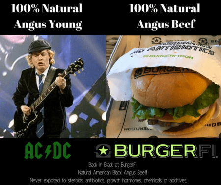 gourmet burger restaurant in winter garden, burgerfi winter garden, 100 percent natural angus beef, acdc
