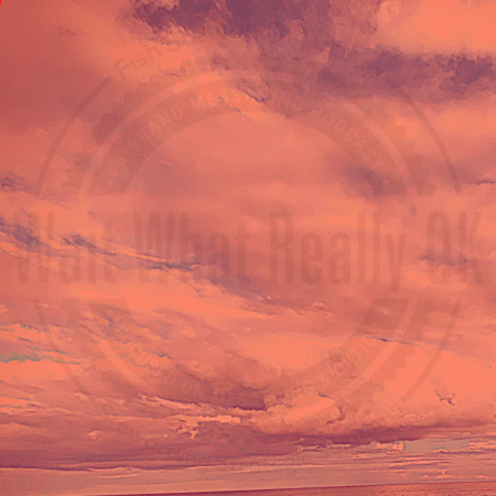 clouds in red with logo