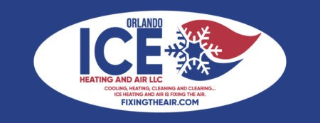 Orlando Ice Heating and Air logo and text and website.