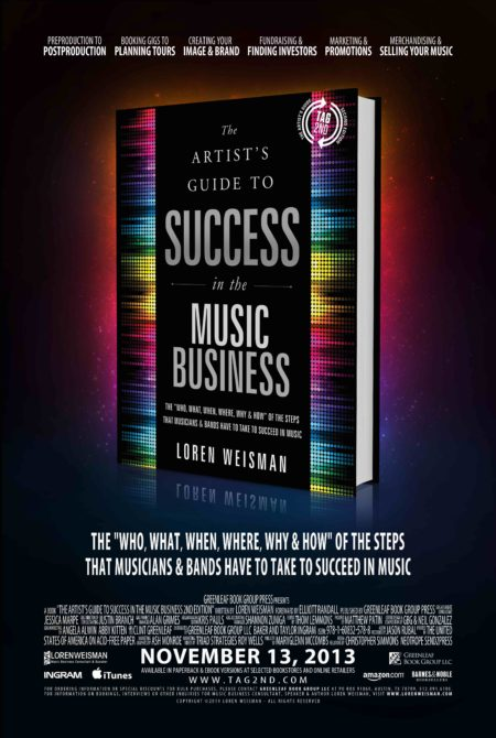 A movie poster image of the artists guide to success in the music business.