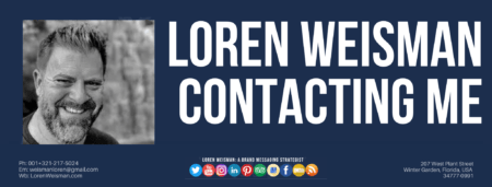 A footer image with the title that reads Loren Weisman contacting me as well as an image of Loren Weisman and some social media icons.