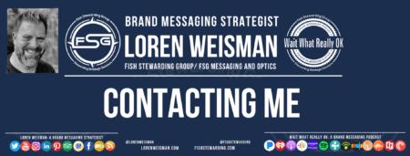 A header image with the title that reads contacting me as well as an image of Loren Weisman, the FSG logo, the Wait What Really OK logo and some social media icons.