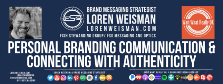A footer graphic with the wait what really ok logo and text that reads personal branding communication and connecting with authenticity.