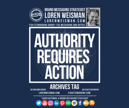 An archives tag that is titled authority requires action, and has the image of the FSG logo as well as an image of Loren Weisman.