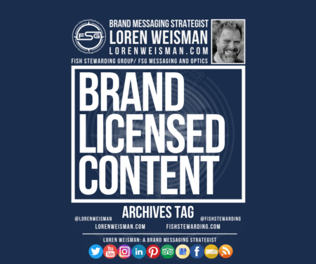 an archives tag graphic with the title brand licensed content and an image of Loren Weisman as well as links and social media icons.
