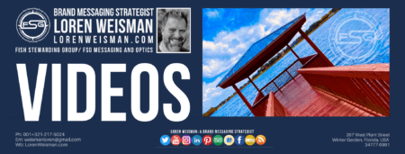dock image with a title that reads brand messaging videos and an image of Loren Weisman.