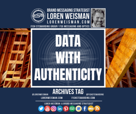 An archives tag graphic with wooden beams in the background as well as the title that reads data with authenticity.