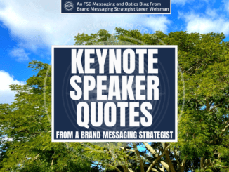 A featured graphic with a large tree and a blue sky with clouds with the center title that reads keynote speaker quotes