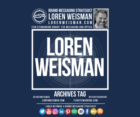 Archives tag graphic titled Loren Weisman with an image of Loren Weisman, the FSG logo and some social media icons on a dark blue background.