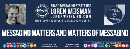 A header with the text that reads messaging matters and matters of messaging with some text links.