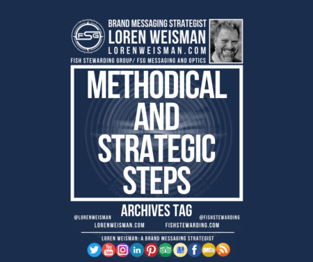 An archives tag image with the title that reads methodical and strategic steps as well as the FSG logo and an image of Loren Weisman