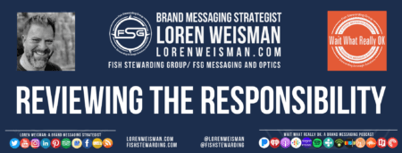 A footer graphic with the title that reads reviewing the responsibilities as well as an image of Loren Weisman, FSG
