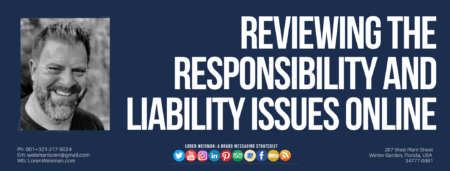 a graphic with the title text that reads reviewing the responsibilities with an image of Loren Weisman and the social media icons.