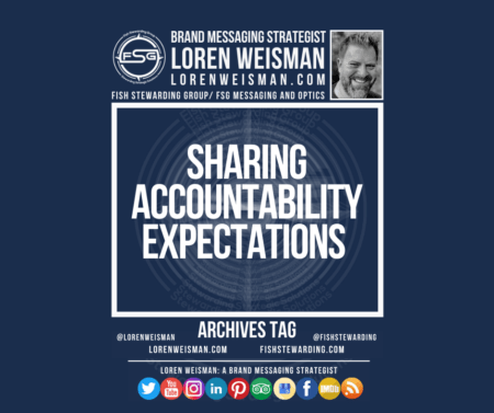 image with loren weisman, the fsg logo and a series of social media icons with the title that reads sharing accountability expectations.