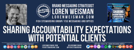 a footer with the title text that includes sharing accountability expectations as well as an image of Loren, the FSG logo, an image of the social media icons and the blog graphic.