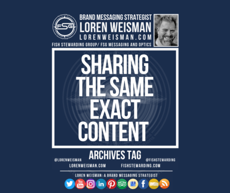 An archives tag graphic that reads in the center, sharing the same exact content with an FSG logo and an image of Loren Weisman surrounding it.
