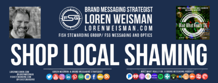 A footer graphic in blue with an image of Loren Weisman, the FSG logo, the Wait what really ok logo and social media icons and tex.