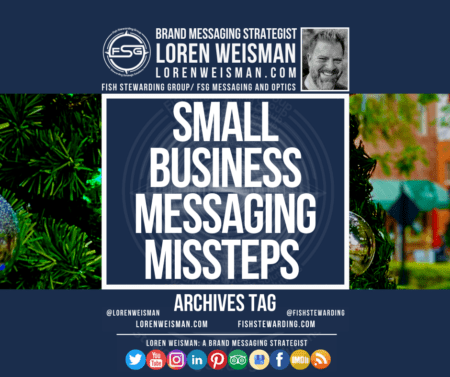 An archives tag graphic with the title in the center that reads Small Business Messaging Missteps.